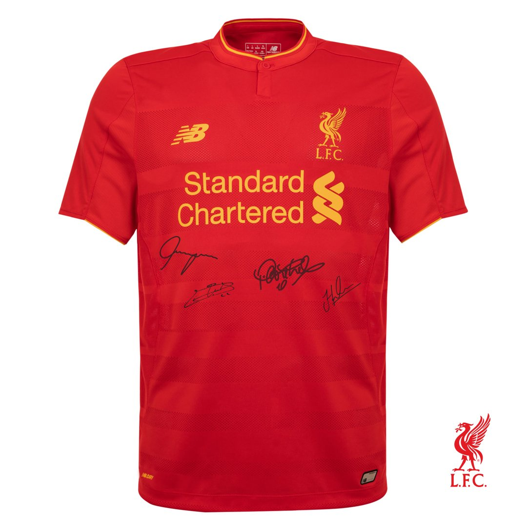 WIN new #LFC home shirt signed by Coutinho, Hendo, Flanagan & Mignolet.   RT this & follow us & @LFCRetail to enter. https://t.co/6tJk382uai