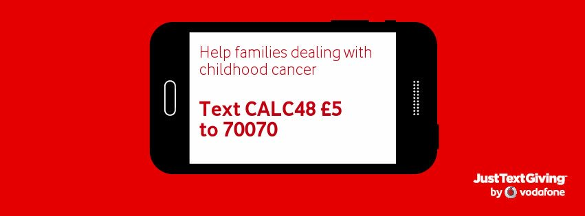 Text CALC48 £5 to 70070 to donate £5 to @CalumsCabin for my Zipslide across the Clyde on Sunday! https://t.co/1USPa4nNL2