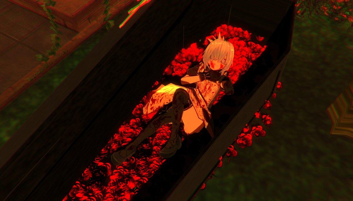 棺桶に赤いバラを敷き詰められて心中を望まれたけど、メカジキあげたら回避できたんでメカジキはすごい #CM3D2 https://t.co/vHkogm9Nuu