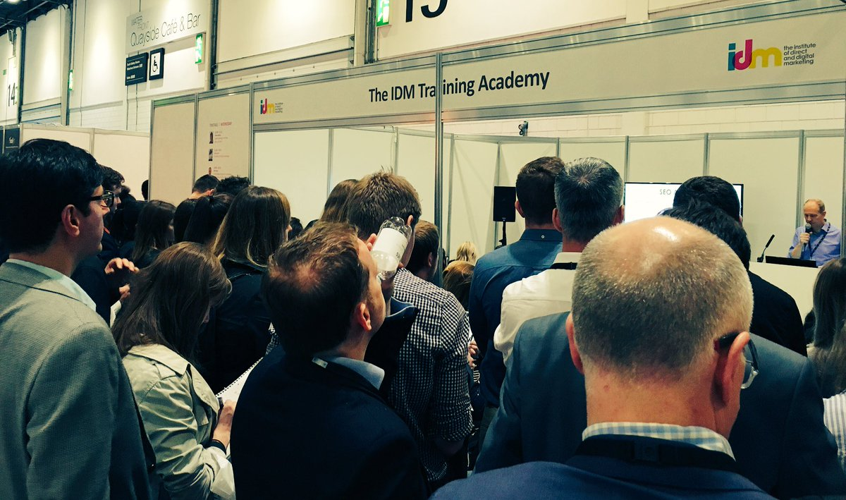 STANDING ROOM ONLY! Mike Rogers Acadamy session on Google Analytics, SEO & PPC is packed to the rafters! #b2buk #idm https://t.co/1u7UMBBfSe