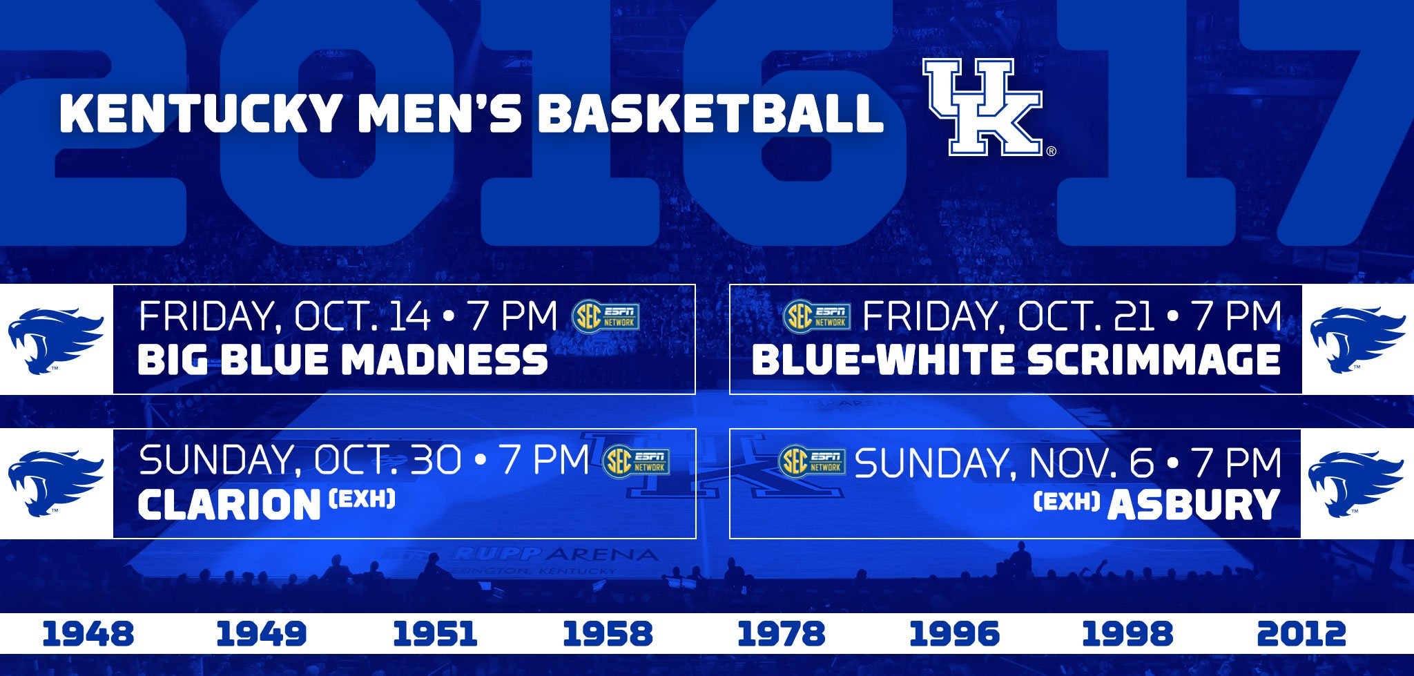 UK Announces Big Blue Madness And This Year's Exhibition
