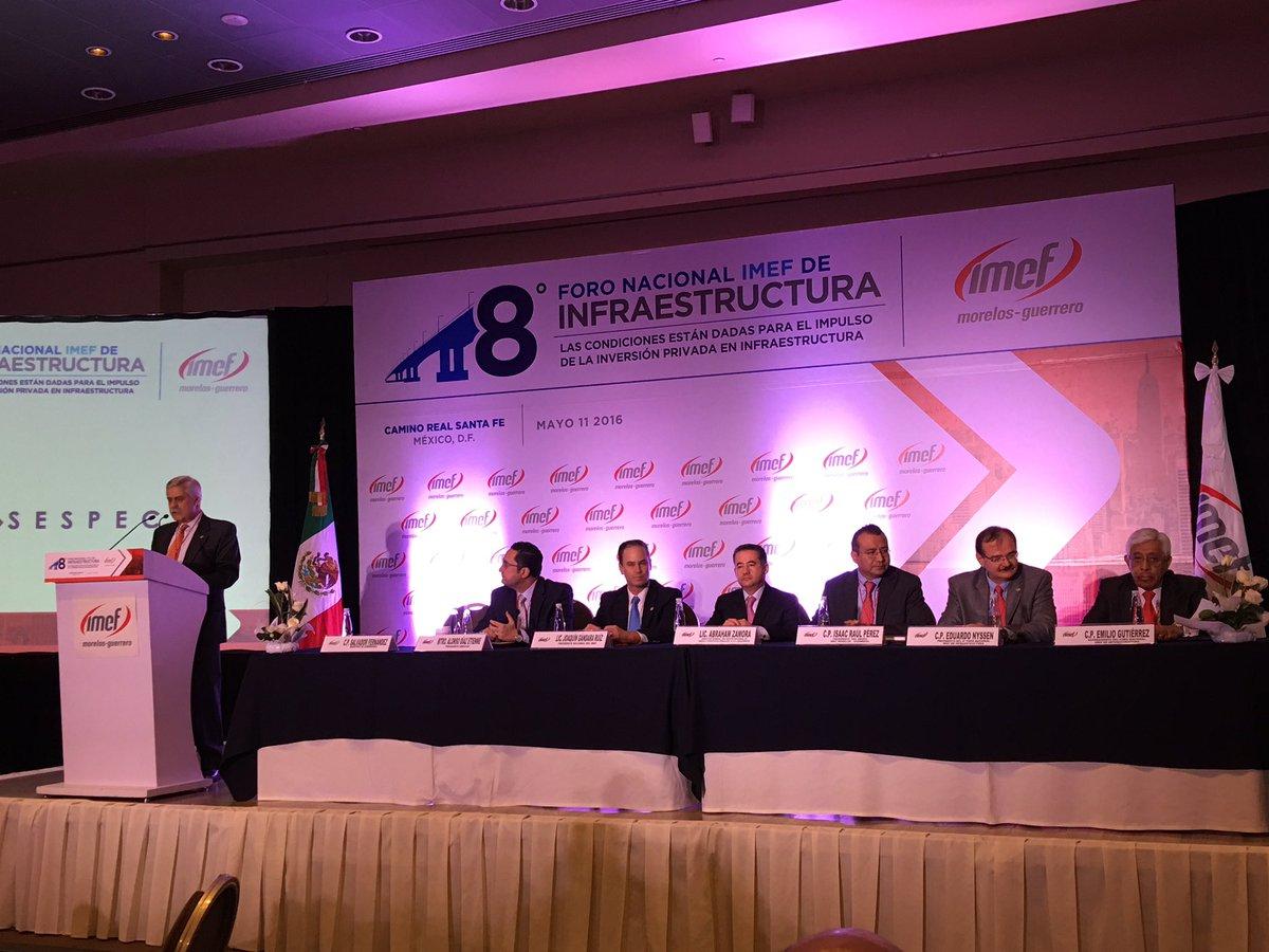 Presentación del 8 Foro Nacional IMEF de Infraestructura @IMEFOficial @joaquingandara https://t.co/E5gRpUpkrq