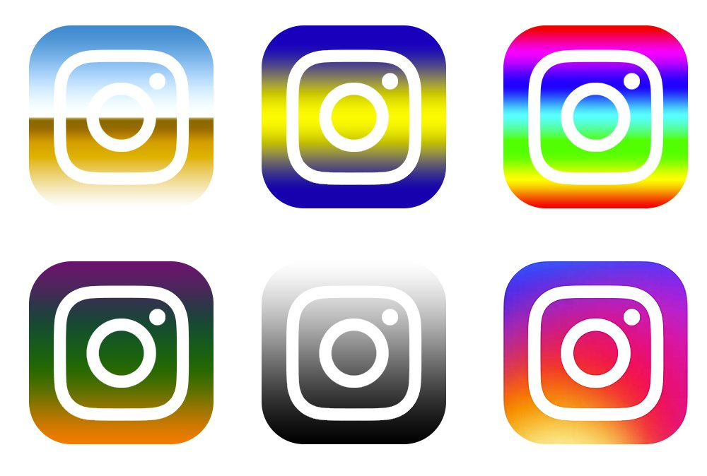 Sources familiar with Instagram say that these were the prototypes, before settling on Default Photoshop Gradient #6 https://t.co/yOgAEue08F