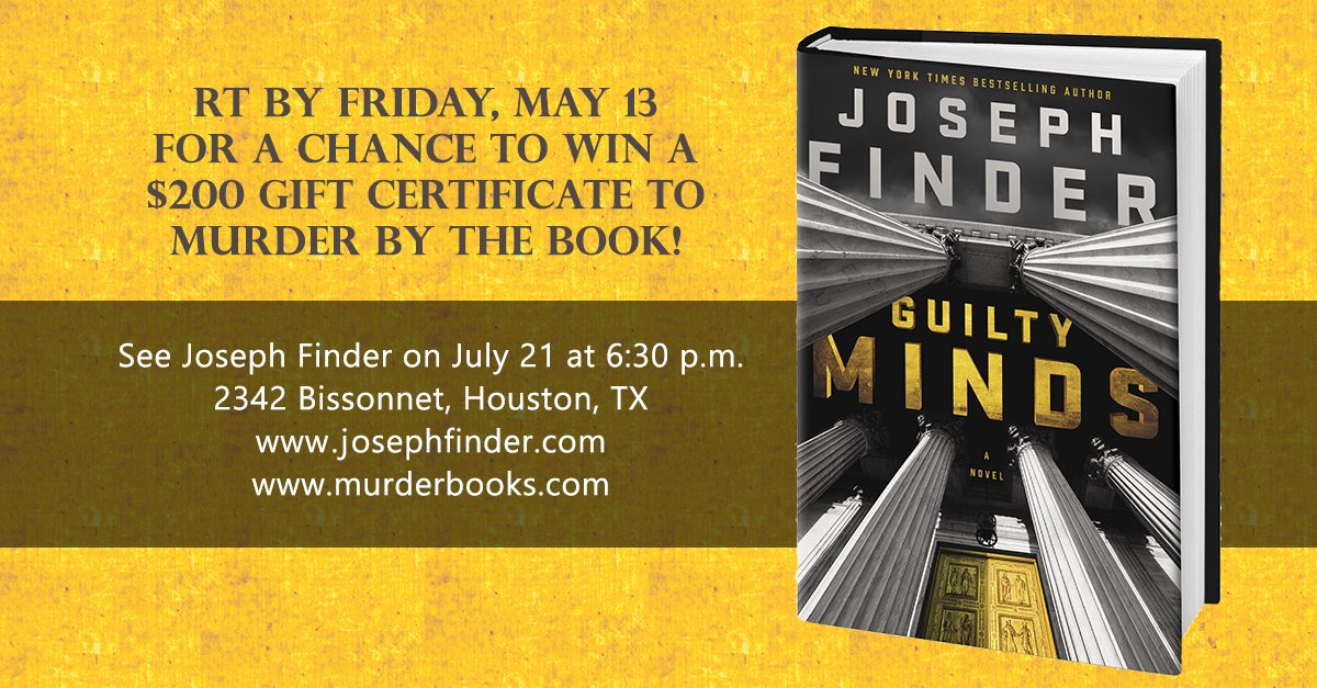 I'll be at @murderbooks 7/21, but you can pre-order GUILTY MINDS: https://t.co/neYuC7zB9O. RT for a chance to win! https://t.co/XywrPR0oRO