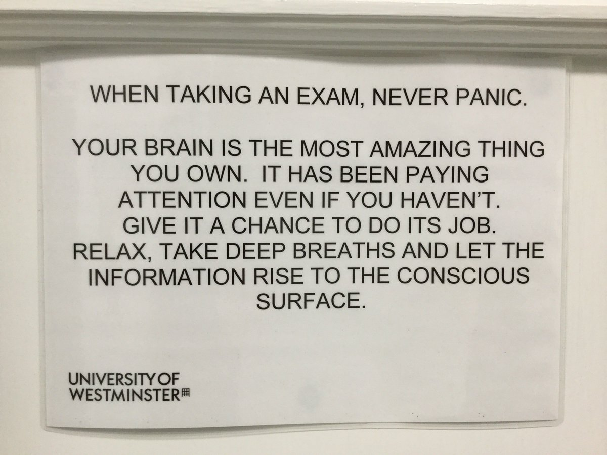 "Wishing our students all the best during this stressful exam period. ""Your brain is the most amazing thing you own"" https://t.co/WZcXg7UbyB"