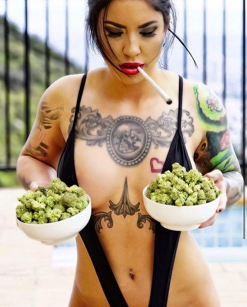 Attractive Girls Smoking Weed Hookah