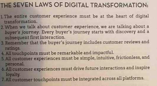 Here's to the 7 Laws of #DigitalTransformation — and #contentmarketing and #socialselling https://t.co/qu3xiXbqK9  — Gerry Moran (GerryMor…