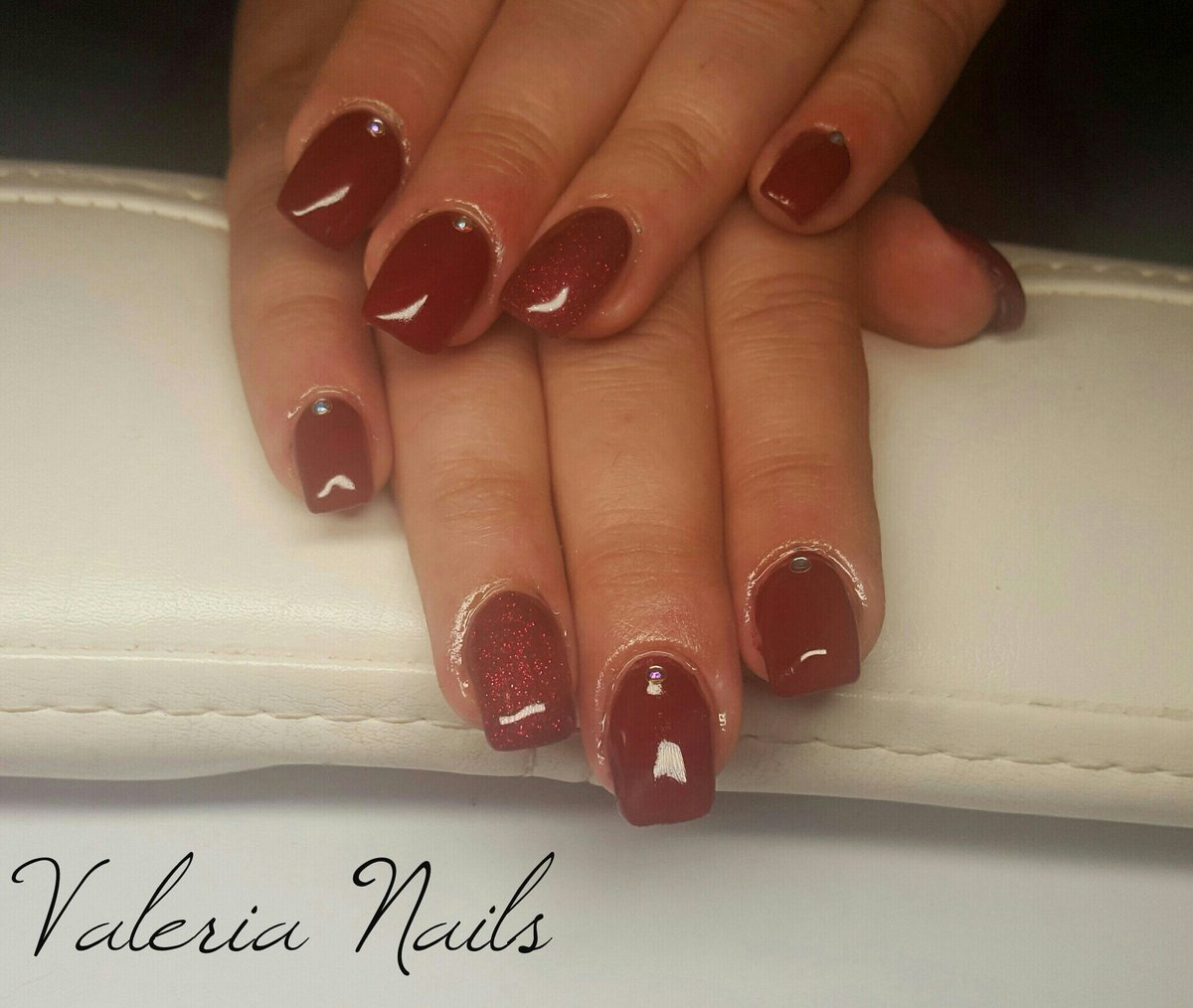 Valeria On Twitter Ricostruzione Unghie Nails Gel Bordeaux