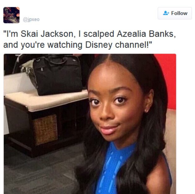 Petty alert! funniest skai jackson vs. azealia banks memes ...