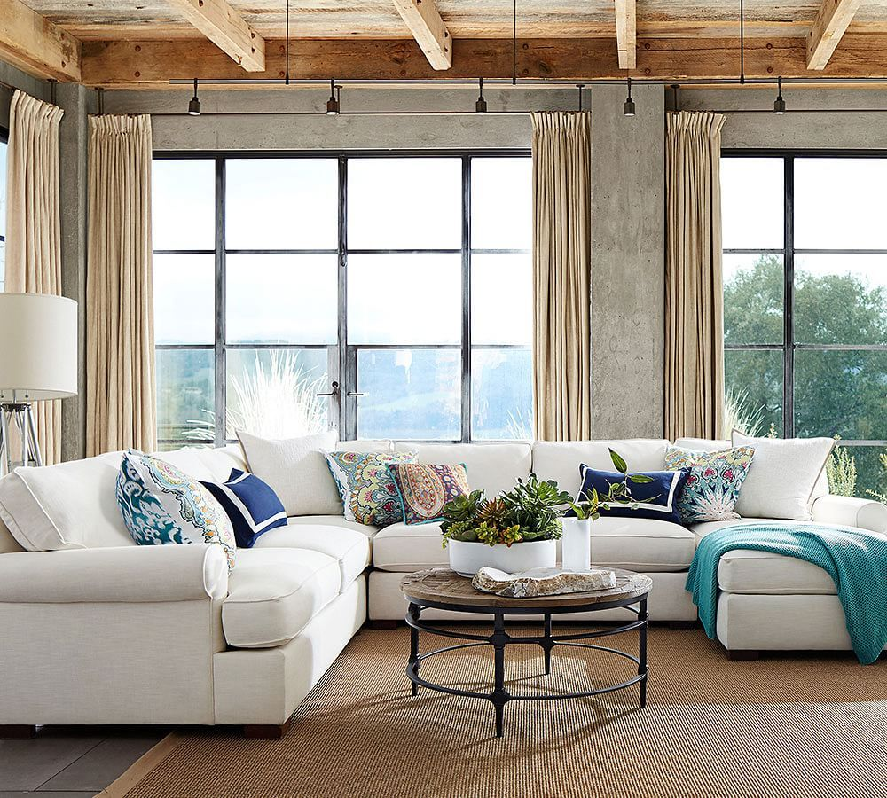 Pottery Barn on Twitter  Our Townsend Sectional makes us yearn for a lazy #weekend lounging on the couch! //t.co/d88c2VI5W5 //t.co/sbf96BIyTU  : townsend sectional - Sectionals, Sofas & Couches