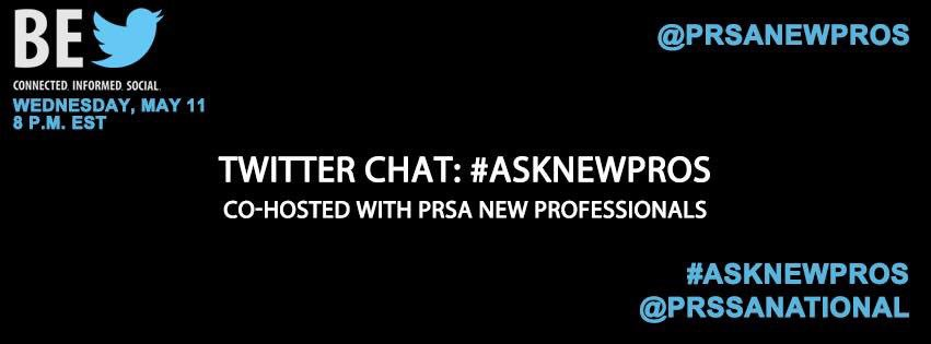 Join #PRSSA tonight in a Twitter chat and ask @PRSANewPros questions about the #PRSA transition. https://t.co/18ucIWSJxF