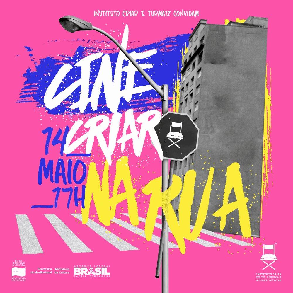 Esse sabado tem cinema a céu aberto! Saiba + e confirme sua presença!  #CineCriarNaRua