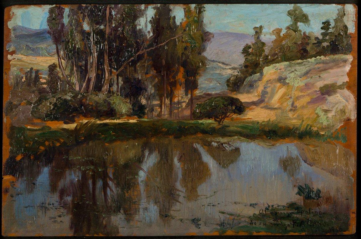 """museodantioquia on Twitter: """"Un día como hoy, hace 81 años, falleció el  artista Francisco Antonio Cano. Lo recordamos con su obra Paisaje (1916).… """""""