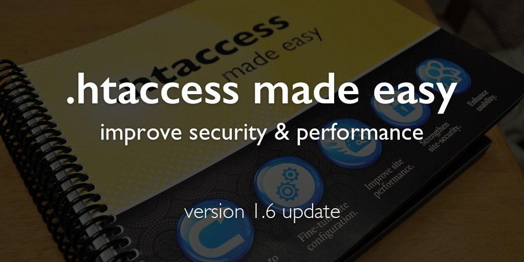 Book update! .htaccess made easy v1.6 now available: https://t.co/xB4gRK72aD #security #performance https://t.co/oFJ4IZ1yUf