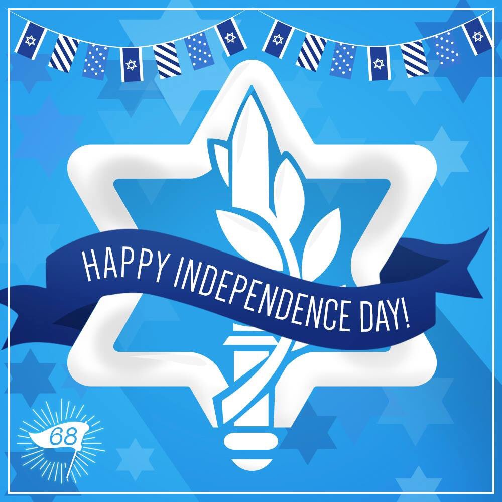 Happy 68th Israeli Independence Day 2 my son who is serving in the IDF (stay safe!) & 2 all In Israel! PEACE!