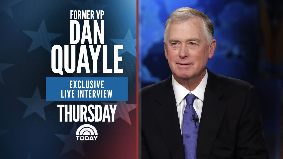 Tomorrow on TODAY: Tune in for an exclusive interview with former Vice President Dan Quayle.