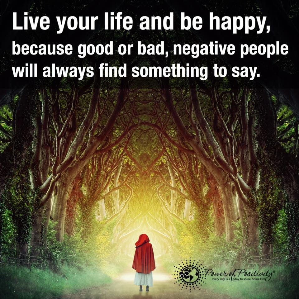"Quotes To Live Your Life By Power Of Positivity® On Twitter ""live Your Life And Be Happy"