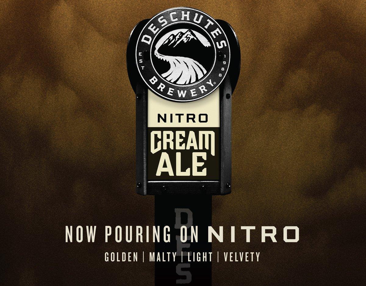 Deschutes Nitro Cream Ale (Oregon)-4.7% ABV 35 IBU