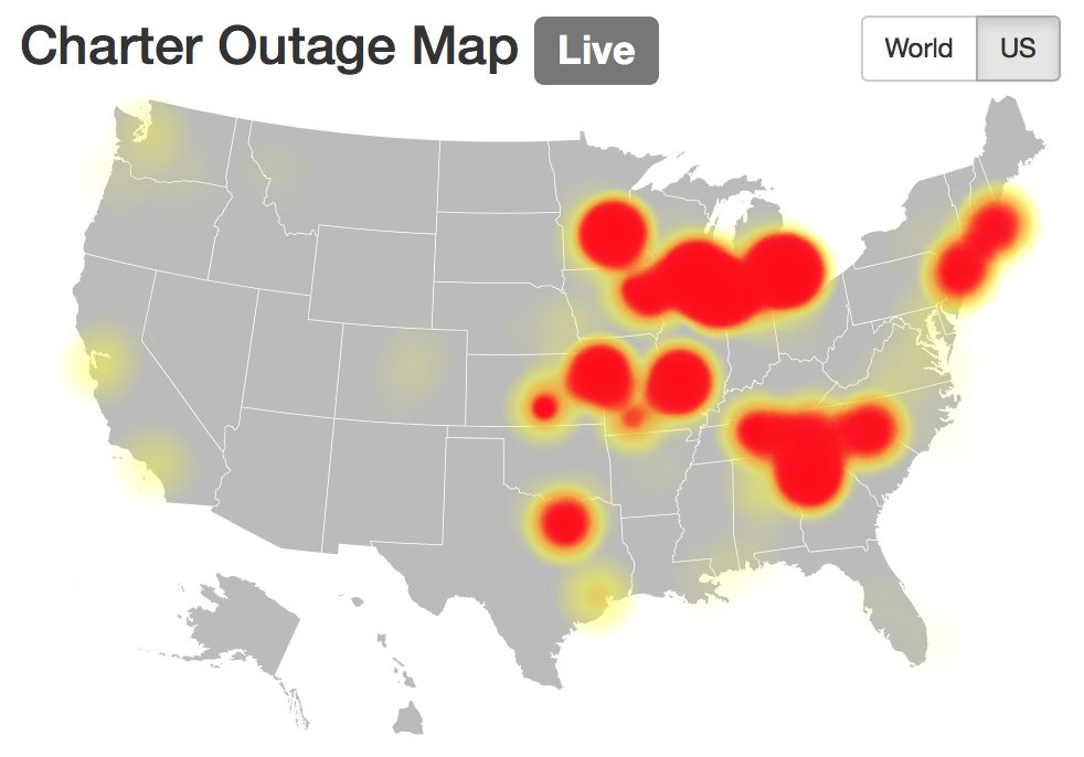 J Kevin McGuire On Twitter Charter Outage Map At PM Also - Charter outage map