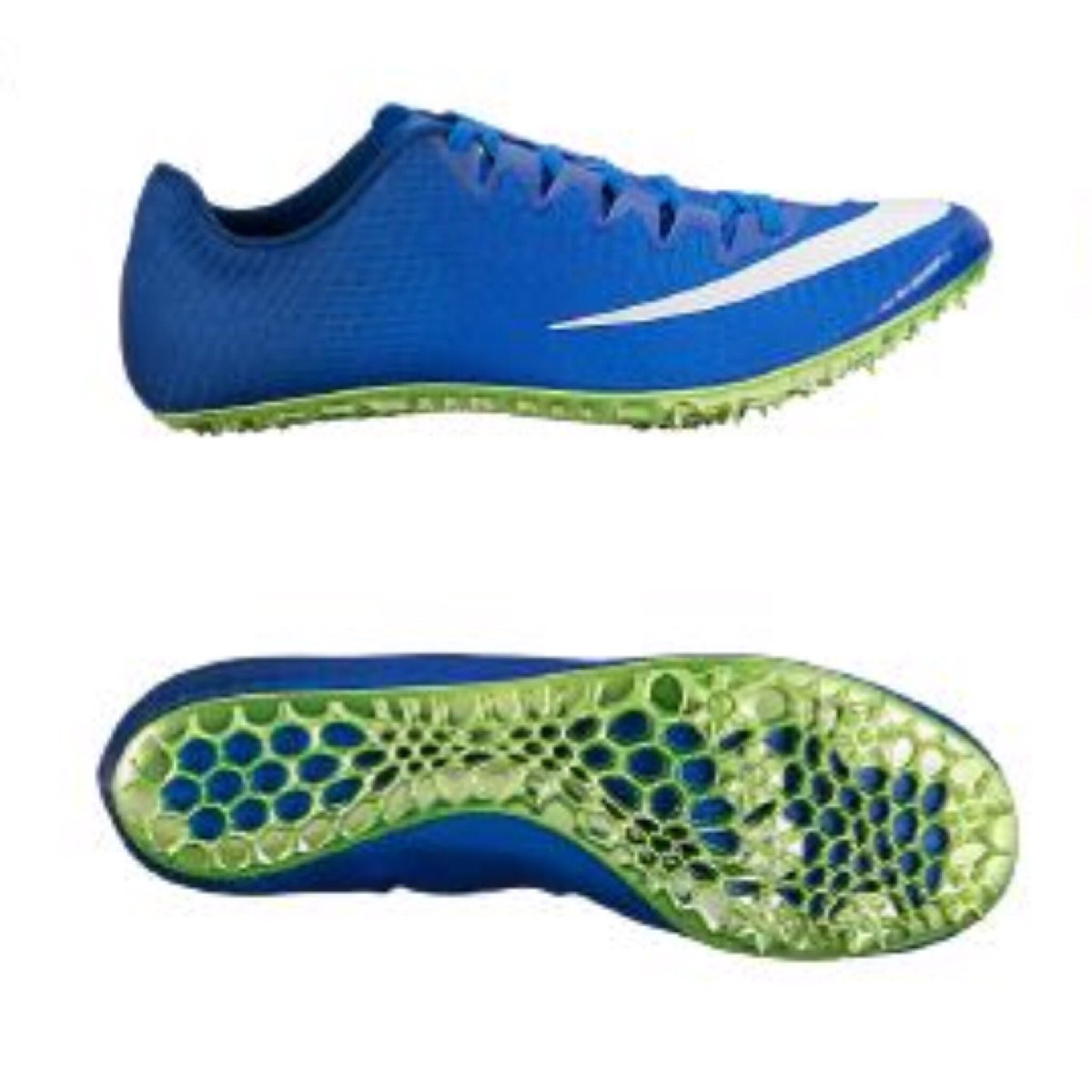Nike men's zoom superfly elite track and field shoes. nike superfly elite  spikes blue