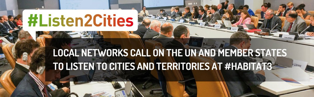 Thumbnail for #Listen2Cities: Local governments call for the UN and its Member States to listen to cities and territories at...