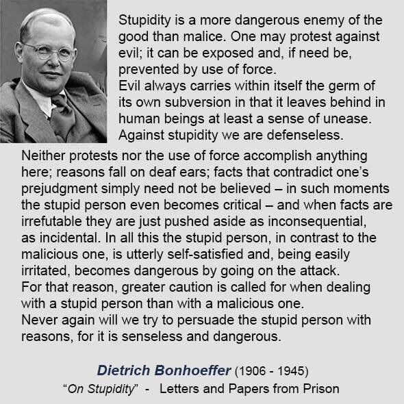 dietrich bonhoeffer on stupidity letters and papers from prison against stupidity we are defenseless va p prpictwittercomyeklwf8rp1