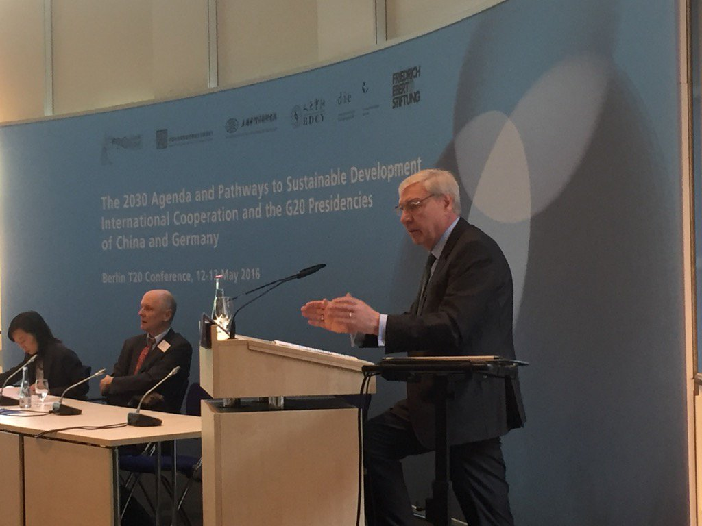 .@FESonline's Michael Sommer welcome remarks #BerlinT20: There can't be an island of prosperity in a world of crisis https://t.co/lN0PWPVznR