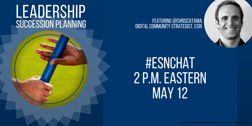 On today's #ESNchat we're discussing #ESN Leadership Succession/Transition Planning https://t.co/bBPV8SAtm6