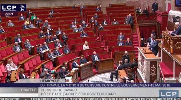 assemblée nationale vide loi travail