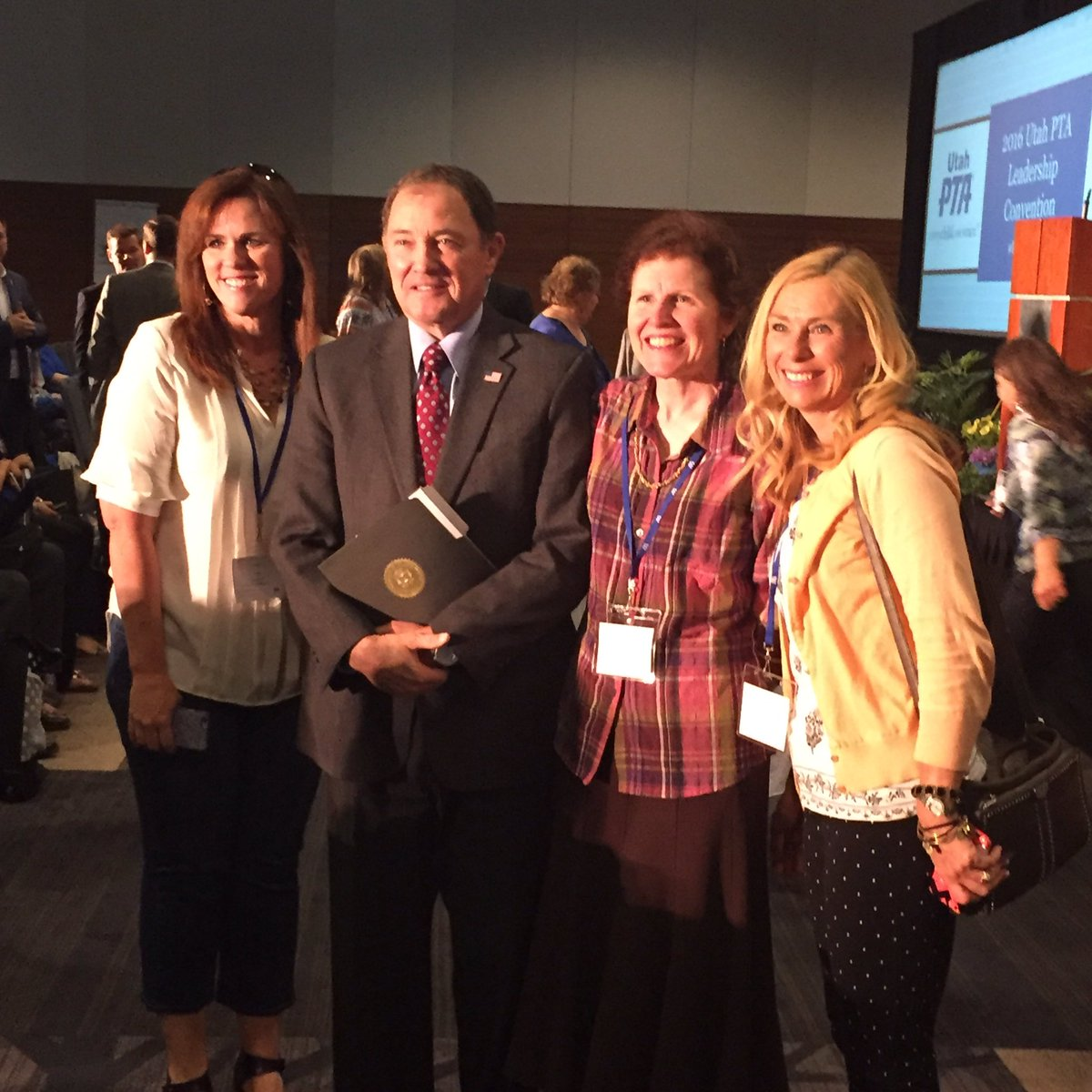 So happy to have @GovHerbert with us for #UTPTA2016 convention. #utpol #yesonB https://t.co/Hl3f41WFfU