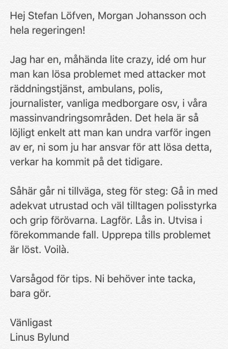 Tips till regeringen angående hoten och våldet i våra f**orter.