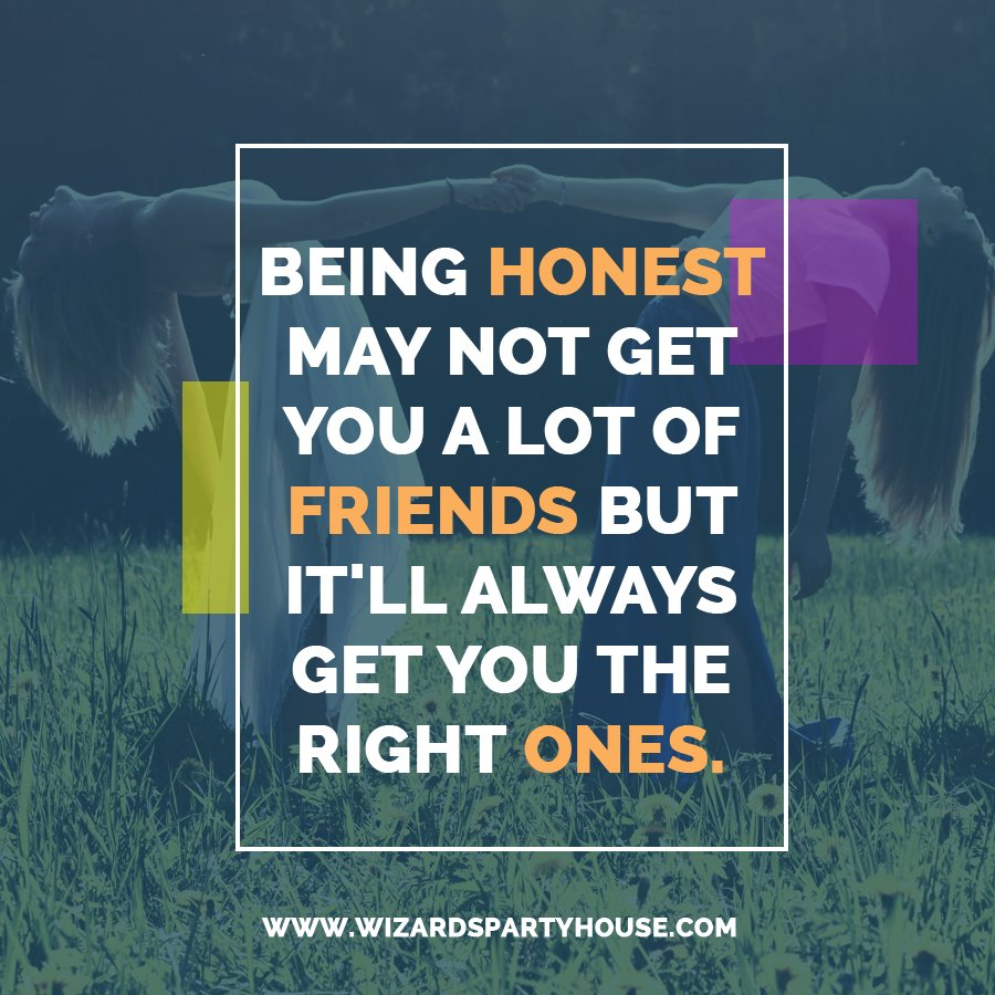 """""""Being honest may not get you a lot of friends but it'll always get you the right ones."""" #cutelifequotes <br>http://pic.twitter.com/yV60t0wgRK"""