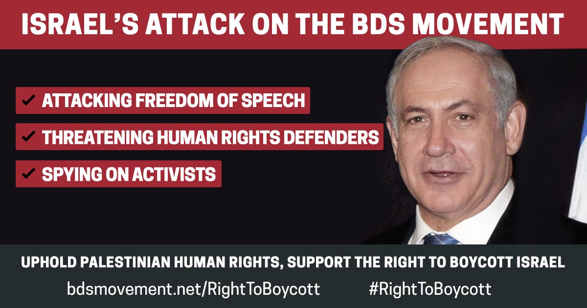 Sign our appeal to the UN about Israel's war of repression on #BDS: https://t.co/4TZMtUbNmQ https://t.co/Egqfs4F1Ia