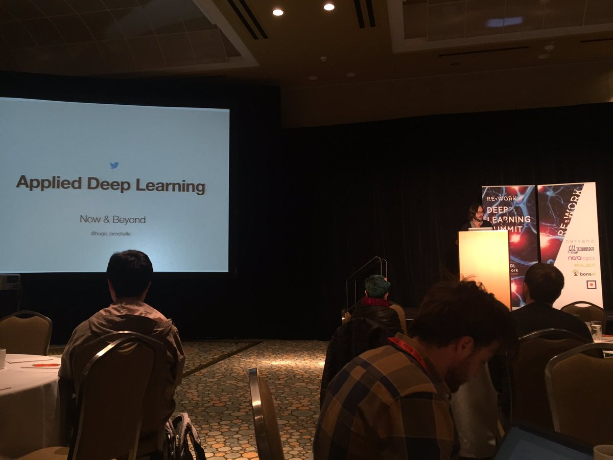 @hugo_larochelle is kicking off #reworkDL #DeepLearning summit with his thoughts & perspectives https://t.co/eoD0IExWxU