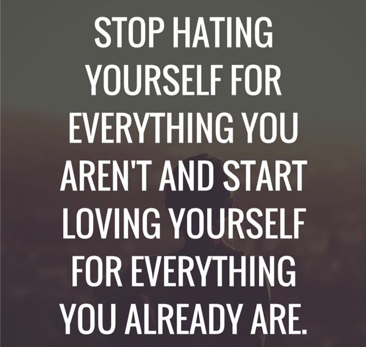 YOU'RE AMAZING! Stop hating yourself for everything you aren't and start loving yourself for everything you are. https://t.co/uM8ZTmhCfi