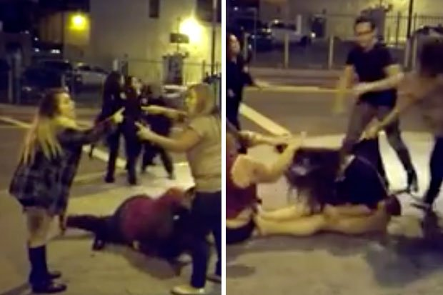 ripped clothes Girl fight
