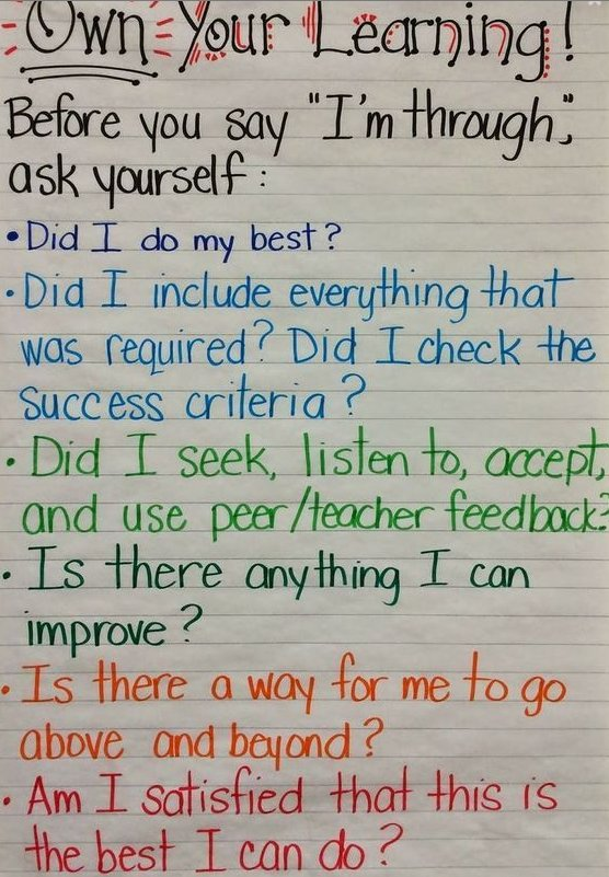 via @WeAreTeachers: Love this! Student check-in before turning in work:  https://t.co/pXMAu2bvMV #growthmindset #MindsetPlay
