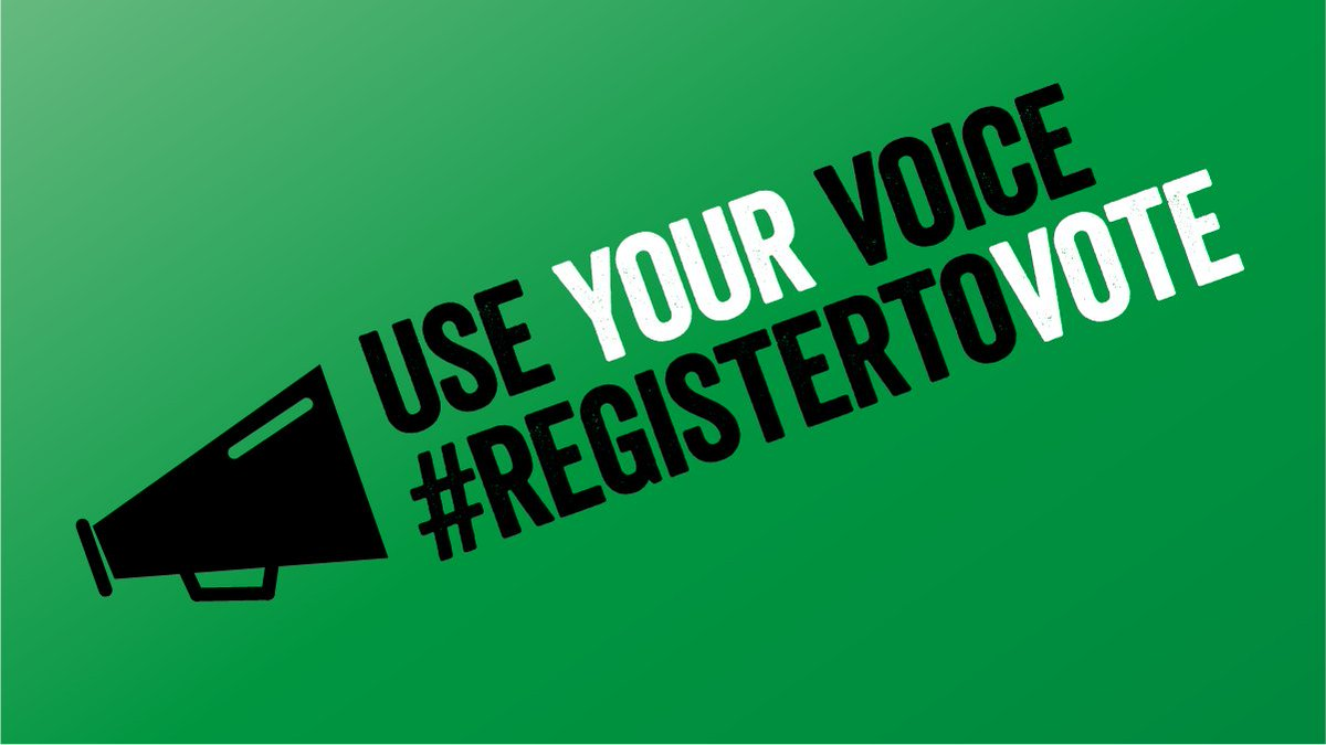 Excited to announce the launch of  #Registertovote campaign https://t.co/NIQy7y3tkV encouraging young ppl to sign up https://t.co/pl1XvyFyGL