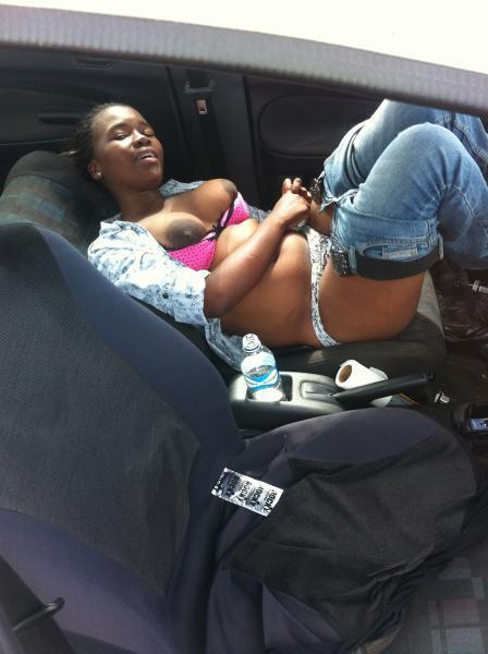 Girl caught in car naked, lesbian massage training
