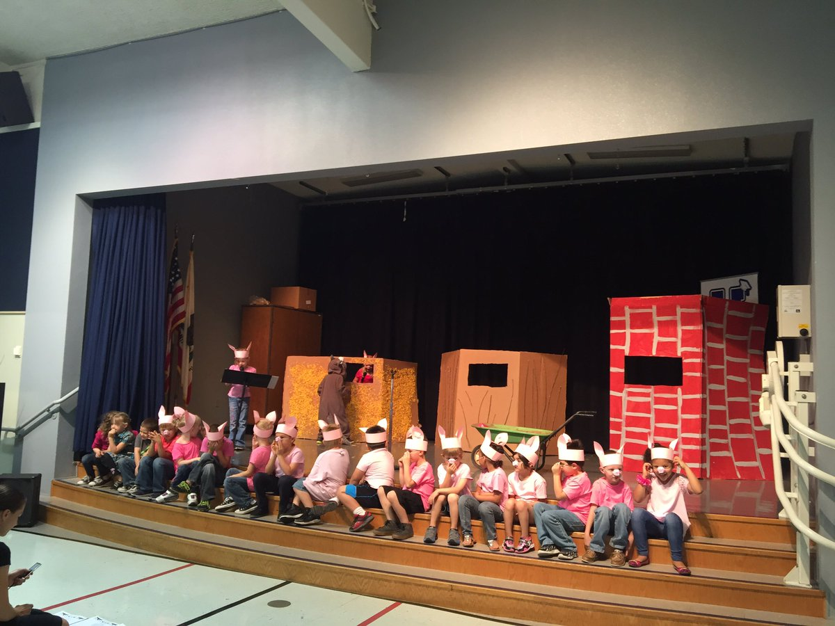 It is Three Piggie Opera time at Juniper. Our Kinders are awesome!!#excellenceforall