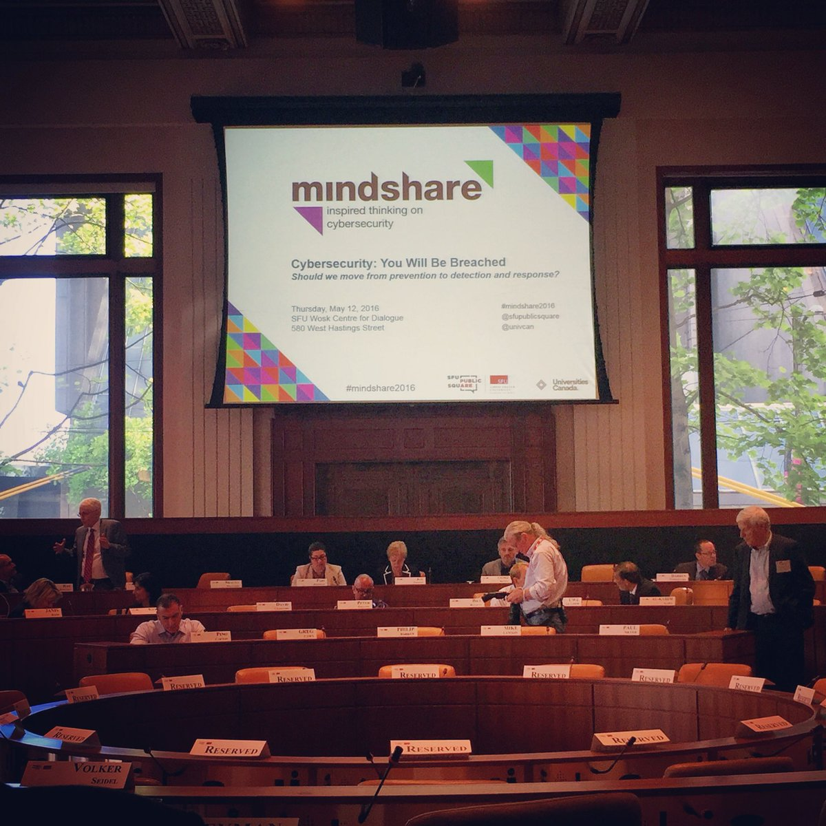 At #mindshare2016 learning about cybersecurity. Thinking about why this matters for #FirstNations @SFUPublicSquare https://t.co/GJFbHYmWyC