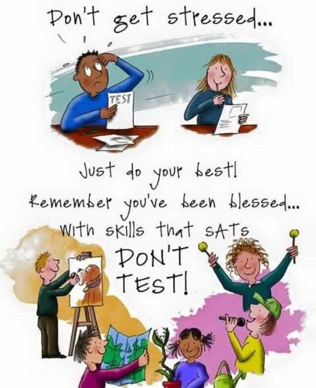 Image result for sats dont get stressed just do your best