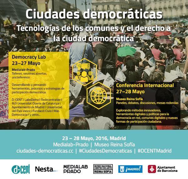 CIUDADES DEMOCRÁTICAS Tecnologías de los comunes y derecho a la ciudad democrática