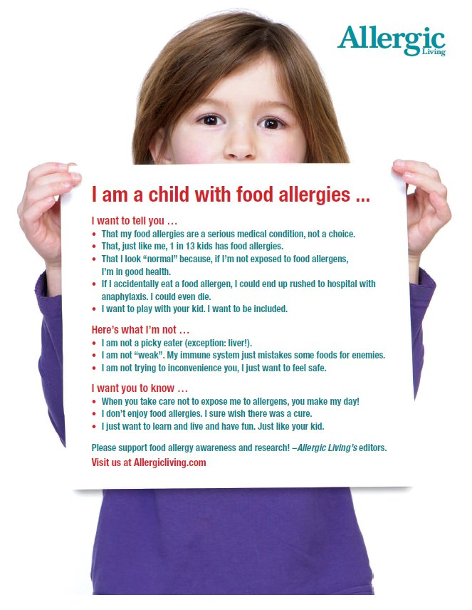 Awareness Poster: I am a Child with Food Allergies... https://t.co/zSir6XChFb  #FoodAllergyAwarenessWeek https://t.co/5HYde3pKvb