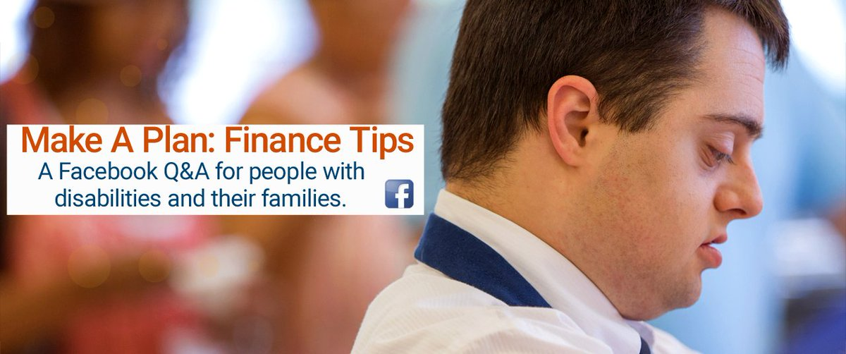 Make a Plan: Finance Tips for people with #disabilities - Facebook Q&A TODAY at 6pm CST https://t.co/Kmj8sEuaoo https://t.co/ZnM2A0pBzG