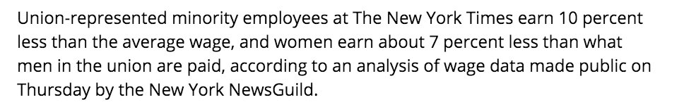 Thumbnail for Guild finds pay lagging for Times minority, women workers