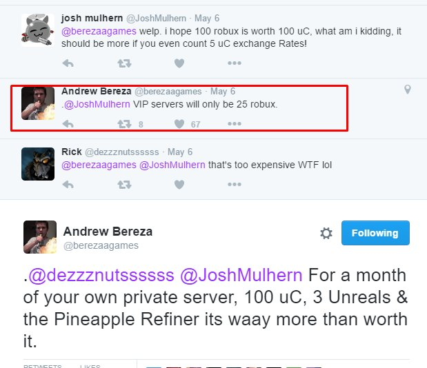 Andrew Bereza On Twitter Vip Servers Are Coming To Haven - is 6 00 robux worth it