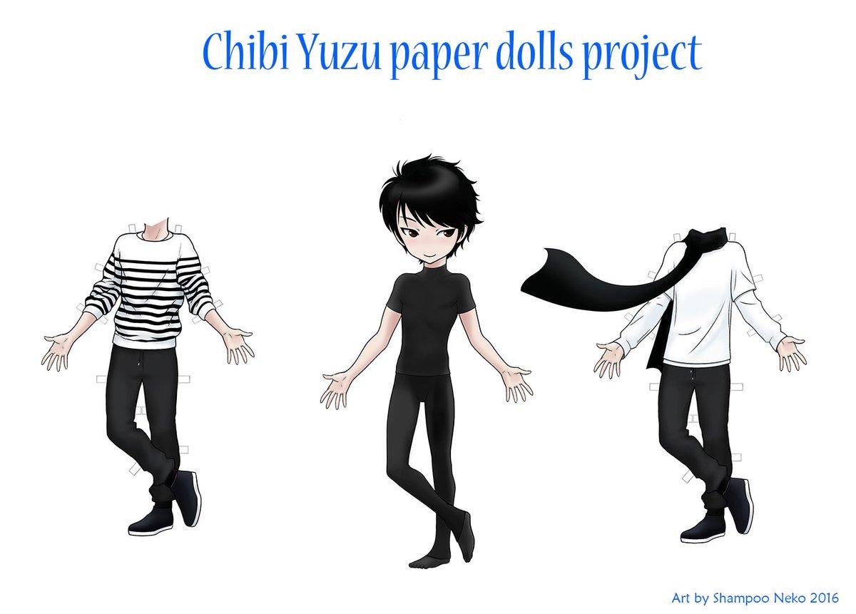 shampoo neko on twitter i started and continue my own project of chibi yuzus paper dolls yuzuruhanyu getbetteryuzu
