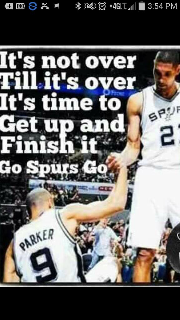 Let's get this win tonight and bring it back home! Go Spurs Go! :) https://t.co/Rxsbm5T0kr