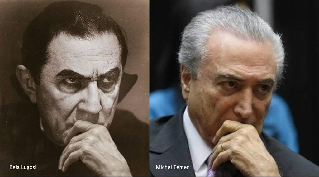 Michel Temer = Bela Lugosi CiSrHXvWsAAJRD4